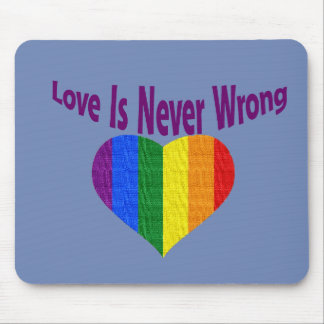 gay pride heart love mouse pad