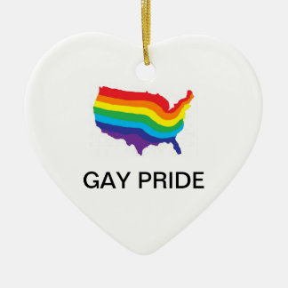 GAY PRIDE HEART ORNAMENT