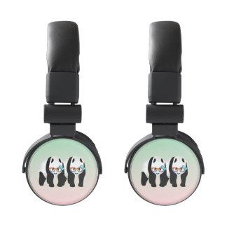 Gay Pride Hipster Pandas Headphones