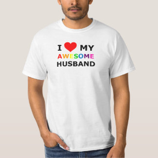 "Gay Pride ""I Love My Awesome Husband"" 1 T-Shirt"
