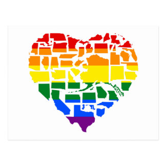 Gay Pride In All 50 States Postcard