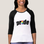 Gay Pride Ladies 3/4 Sleeve Raglan (Fitted) T-Shirt
