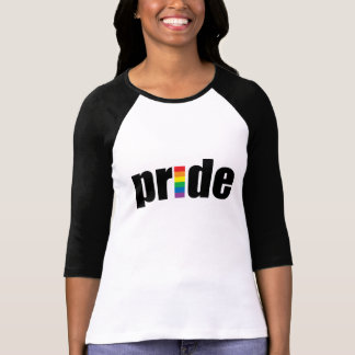 Gay Pride Ladies 3/4 Sleeve Raglan (Fitted) T-Shirt