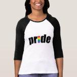 Gay Pride Ladies 3/4 Sleeve Raglan (Fitted) T Shirts