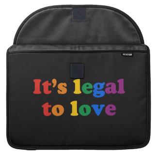 GAY PRIDE LEGAL LOVE SLEEVE FOR MacBooks