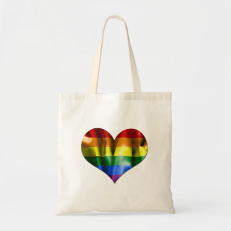 Gay Pride Love Heart Flag Canvas Bag