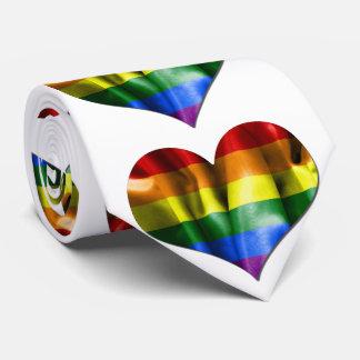 Gay Pride Love Heart Flag Tie