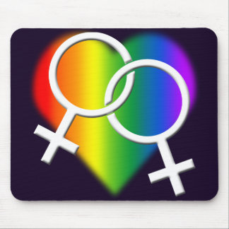 Gay Pride Mousepad Rainbow Love Mousepads & Gifts