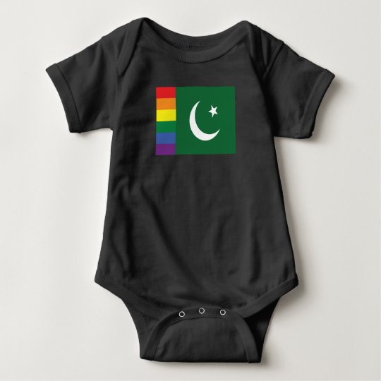 Gay Pride Pakistani Flag Baby Bodysuit