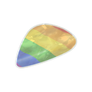 Gay Pride Pearl Celluloid Guitar Pick