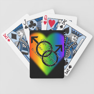 Gay Pride Playing Cards Custom Rainbow Love Cards
