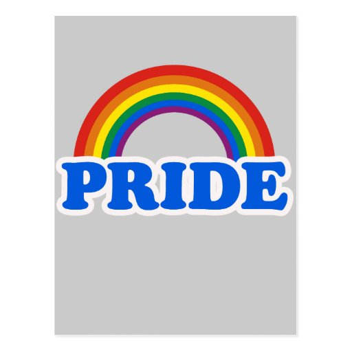 GAY PRIDE POST CARD