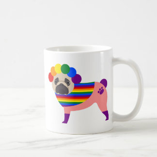 Gay Pride Pug Tees and Gifts Basic White Mug