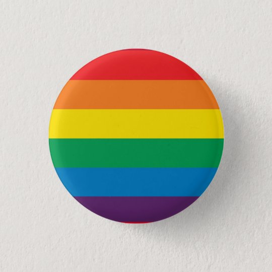 Gay Pride Rainbow Button