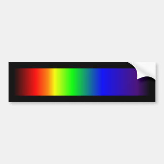 Gay Pride Rainbow Colors Car Bumper Sticker
