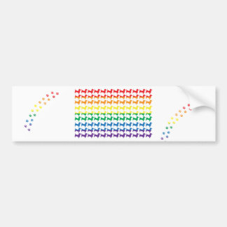 Gay Pride Rainbow Dachshunds Bumper Sticker