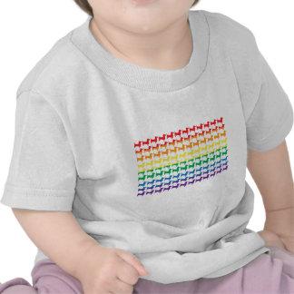 Gay Pride Rainbow Dachshunds Tshirts