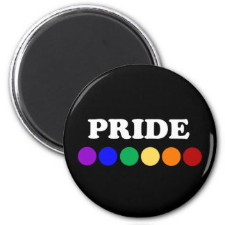 Gay Pride Rainbow Dots Magnet