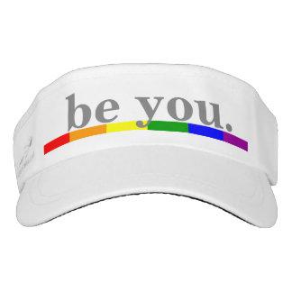 Gay Pride Rainbow Flag Be You Visor