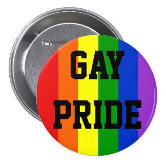 Gay Pride Rainbow Flag Button Round