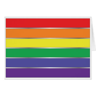 Gay Pride Rainbow Flag Colors Card