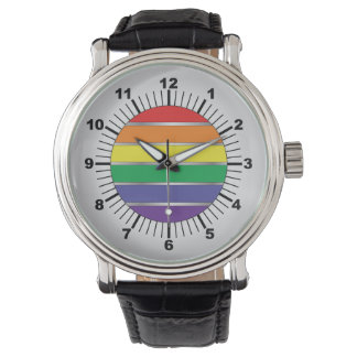 Gay Pride Rainbow Flag Colors Watch