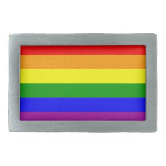Gay Pride Rainbow Flag Rectangular Belt Buckle