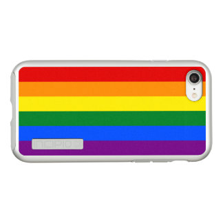 Gay Pride Rainbow Flag Silver iPhone Case