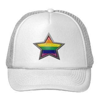 Gay Pride Rainbow Flag Star Hats