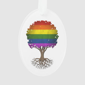 Gay Pride Rainbow Flag Tree of Life Customizable