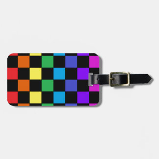 Gay Pride Rainbow Gifts - Rainbow Chessboard Luggage Tag
