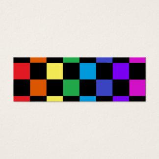 Gay Pride Rainbow Gifts - Rainbow Chessboard Mini Business Card