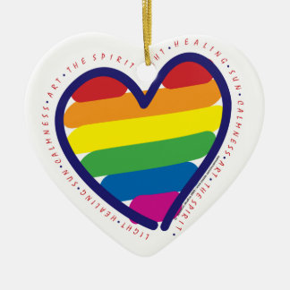 Gay Pride Rainbow Heart Christmas Ornament