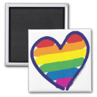 Gay Pride Rainbow Heart Magnet
