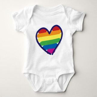 Gay Pride Rainbow Heart T Shirts