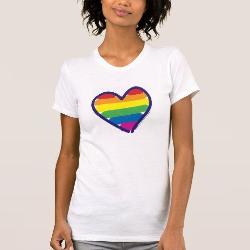 Gay Pride Rainbow Heart Tank