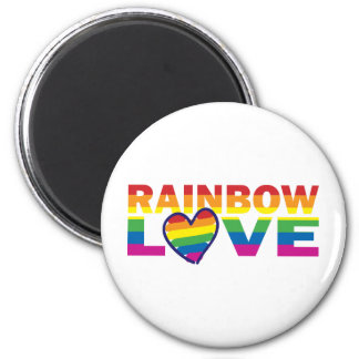 Gay Pride Rainbow Love Heart 6 Cm Round Magnet