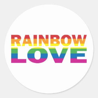 Gay Pride RAINBOW-LOVE Stickers