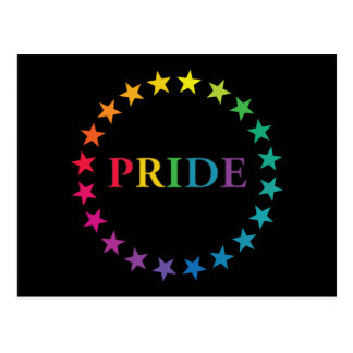 Gay Pride Rainbow Stars Postcard