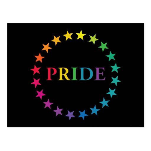 Gay Pride Rainbow Stars Post Card