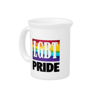 Gay Pride Rainbow Tees and Gifts Beverage Pitchers