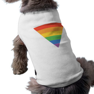 Gay Pride Rainbow Triangle Sleeveless Dog Shirt