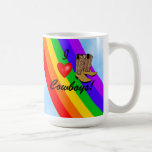 Gay Pride Rodeo-Rainbow Basic White Mug