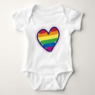 Gay Pride Spirit Heart Baby Bodysuit