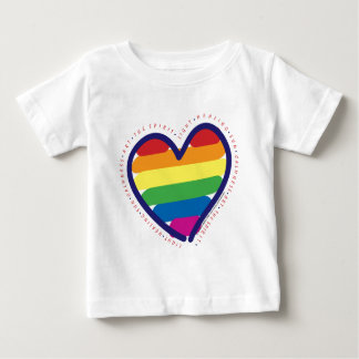 Gay Pride Spirit Heart Baby T-Shirt