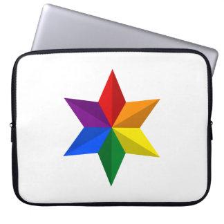 Gay Pride Star Computer Sleeves