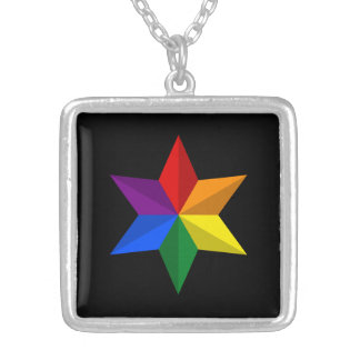 Gay Pride Star Silver Plated Necklace
