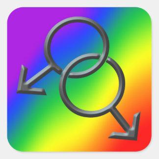 Gay Pride Stickers Men s Gay Pride Rainbow Sticker