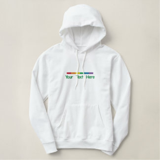 Gay pride Strip Personalized Embroidered Hoodie