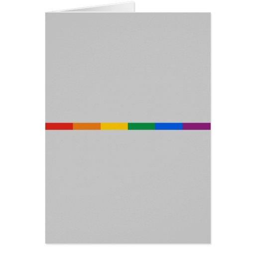 Gay Pride Stripe Greeting Cards